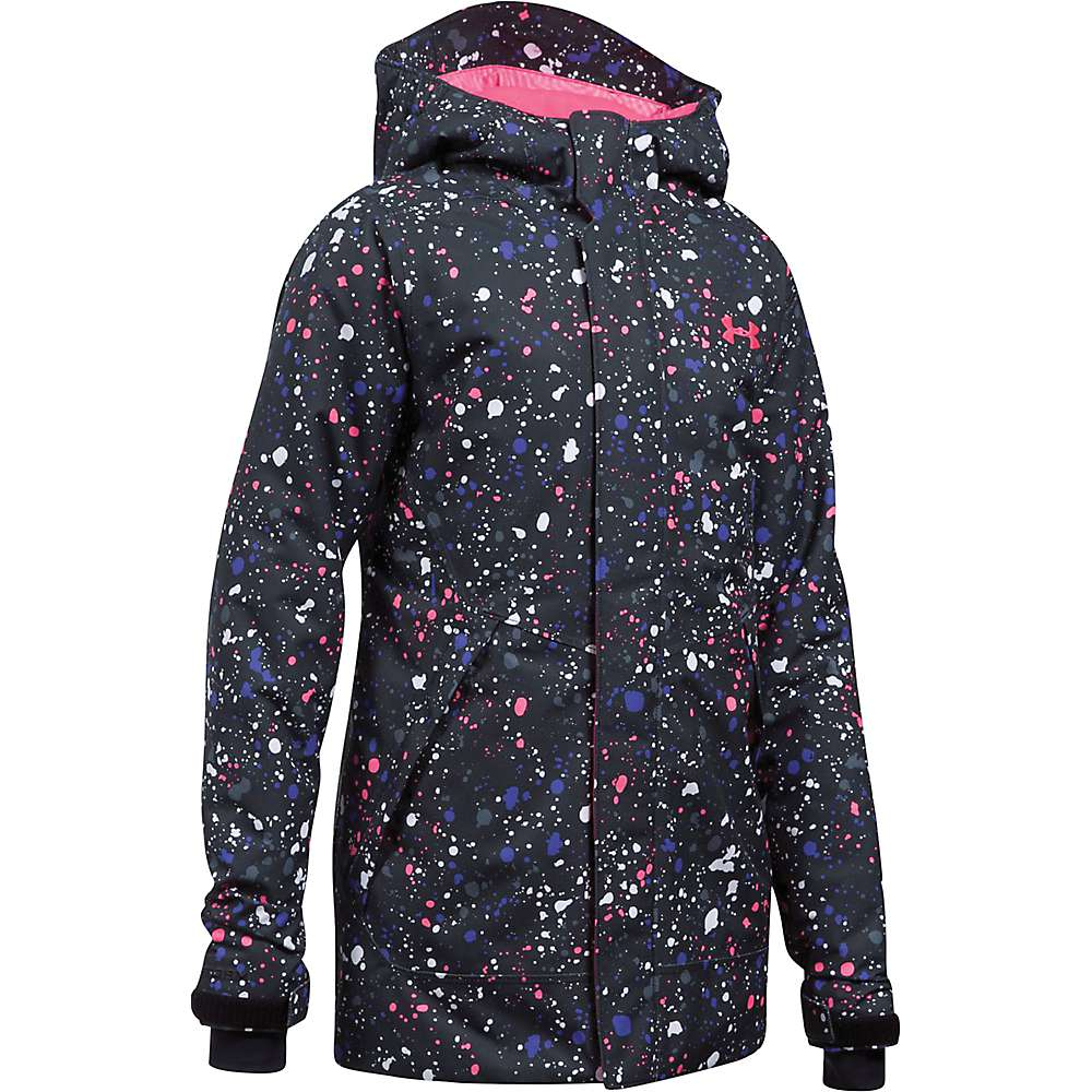 Under Armour Girls' UA CoadGear Infrared Powerline Insulated Jacket - XL - Black / Penta Pink / Penta Pink
