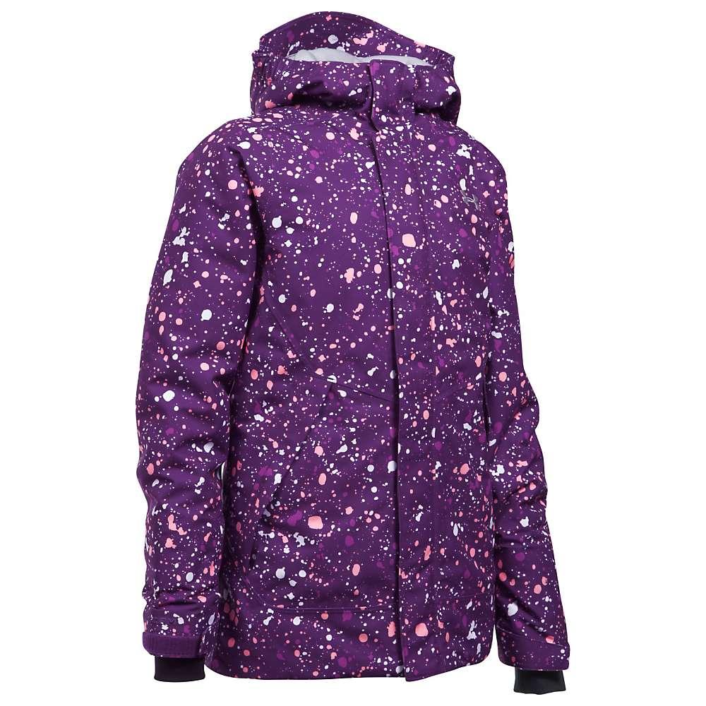 Under Armour Girls' UA CoadGear Infrared Powerline Insulated Jacket - Small - Indulge / Overcast Grey / Overcast Grey