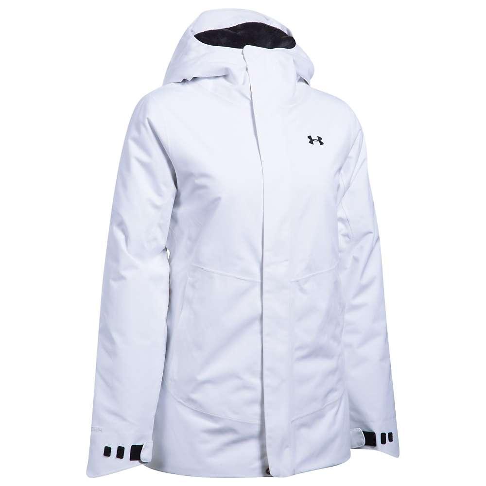 Under Armour Women's ColdGear Infrared Powerline Insulated Jacket - Medium - White / Rhino Grey / Black