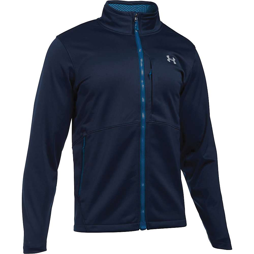 Under Armour Men's ColdGear Infrared Softershell Jacket - Large - Midnight Navy / Overcast Grey