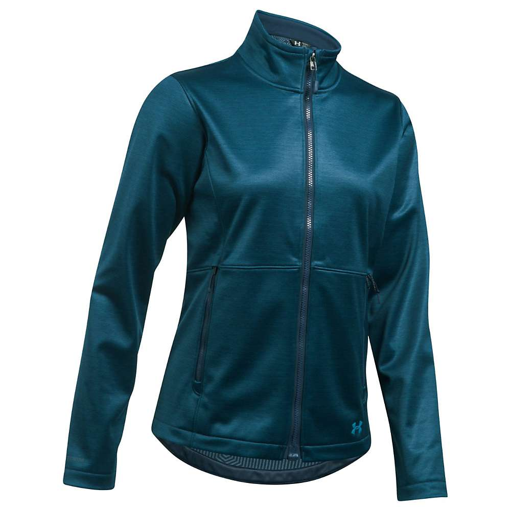 Under Armour Women's ColdGear Infrared Softershell Jacket - Medium - True Ink / Midnight Navy / Bayou