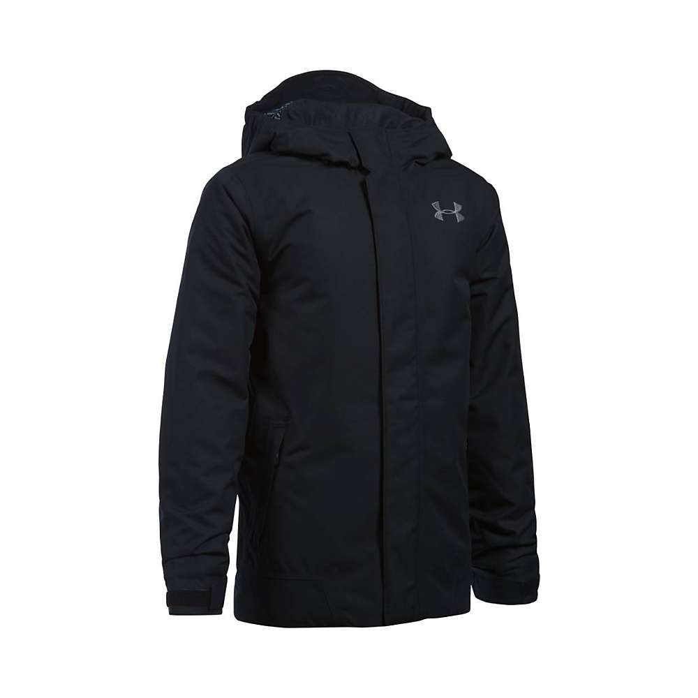 Under Armour Boys' UA ColdGear Infrared Powerline Insulated Jacket - Small - Black / Graphite