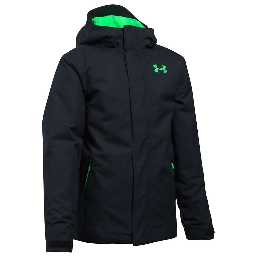 Under Armour Boys' UA ColdGear Infrared Powerline Insulated Jacket - XL - Black / Lime Twist / Lime Twist