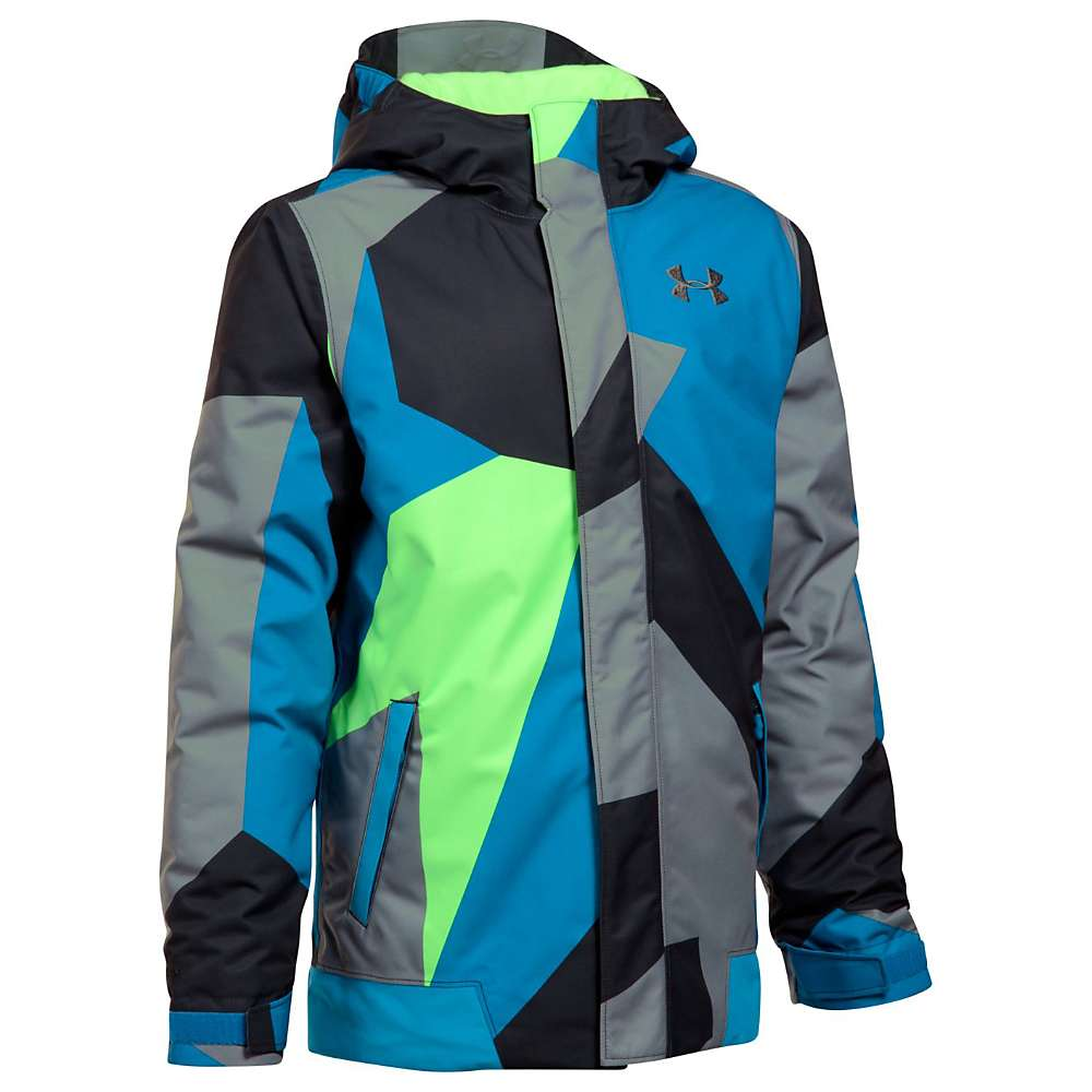 Under Armour Boys' UA ColdGear Infrared Powerline Insulated Jacket - Medium - Quirky Lime / Quirky Lime / Graphite