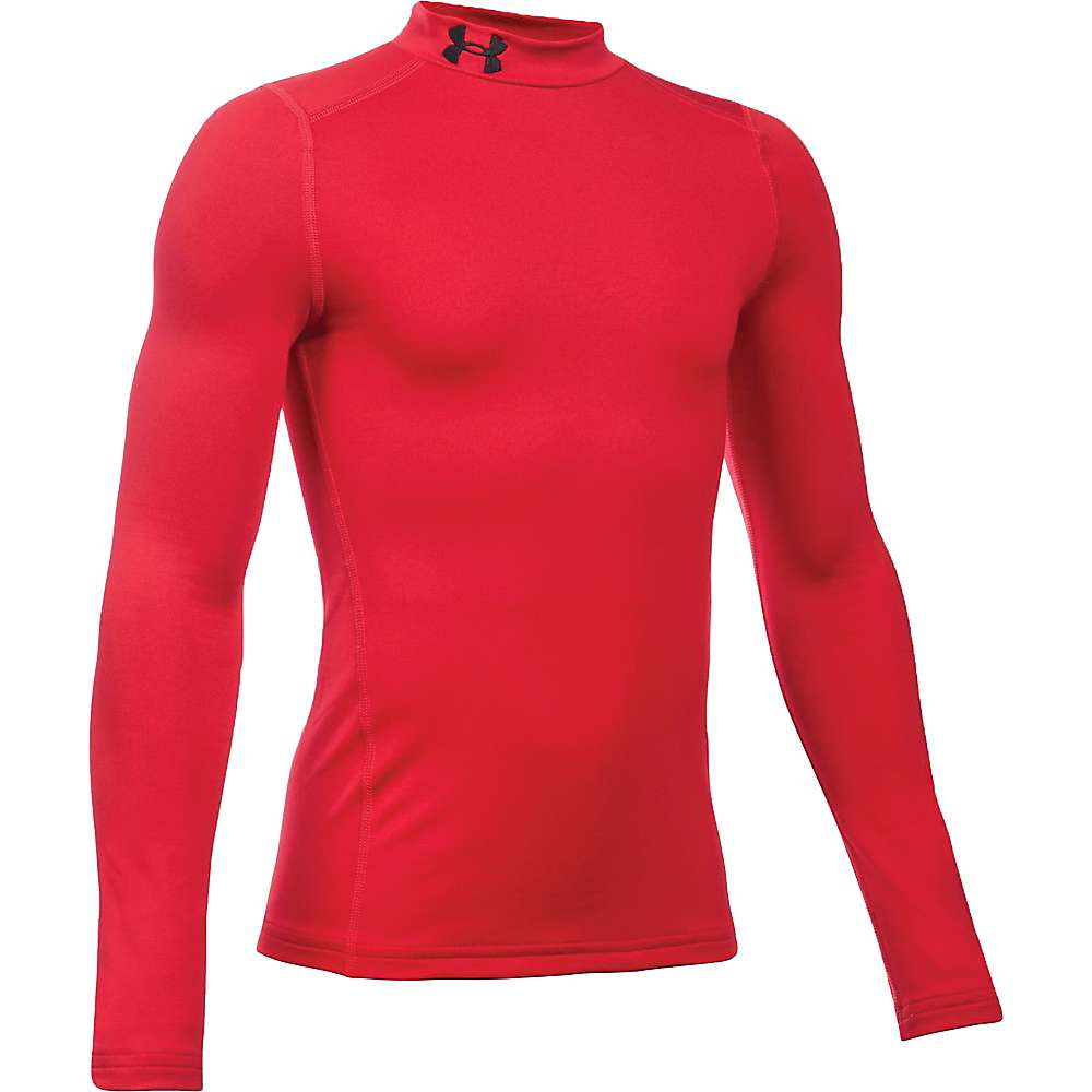Under Armour Boys' UA ColdGear Armour Mock Neck Top - Large - Red / Black