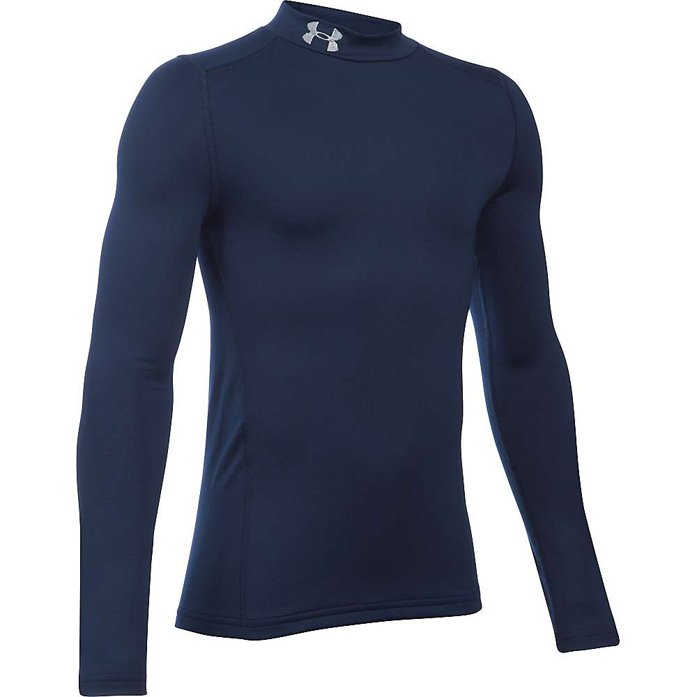 Under Armour Boys' UA ColdGear Armour Mock Neck Top - XL - Midnight Navy / Steel
