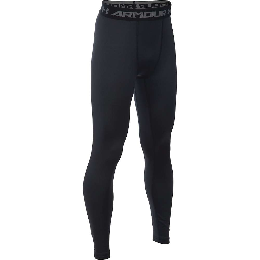 Under Armour Boys' UA ColdGear Armour Legging - XS - Black / Reflective