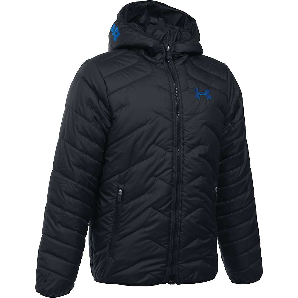 Under Armour Boy's ColdGear Reactor Hooded Jacket - XS - Black / Ultra Blue