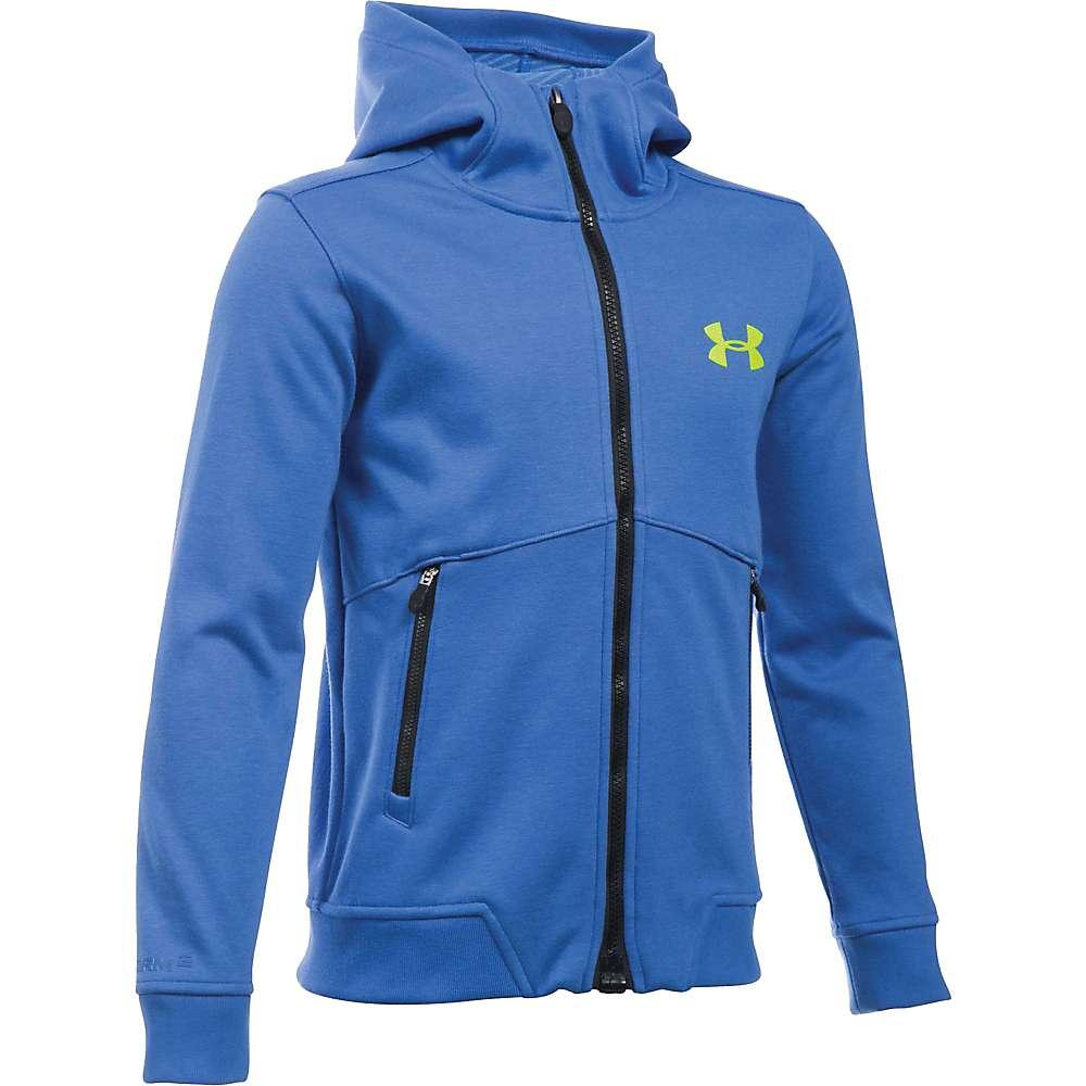 Under Armour Boy's ColdGear Infrared Dobson Softshell Jacket - XL - Ultra Blue / Fuel Green