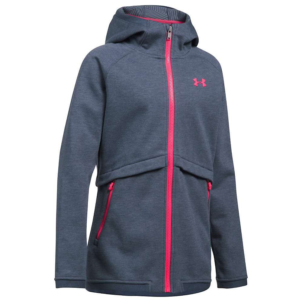 Under Armour Girls' UA ColdGear Infrared Dobson Softshell Jacket - XL - Apollo Grey / Penta Pink / Penta Pink