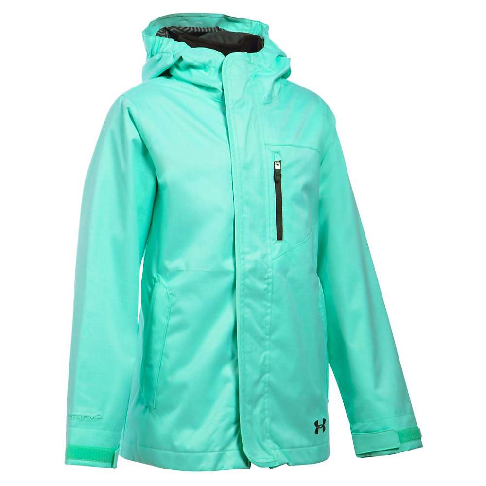 Under Armour Girls' UA ColdGear Infrared Gemma 3 In 1 Jacket - XS - Crystal / Glacier Grey