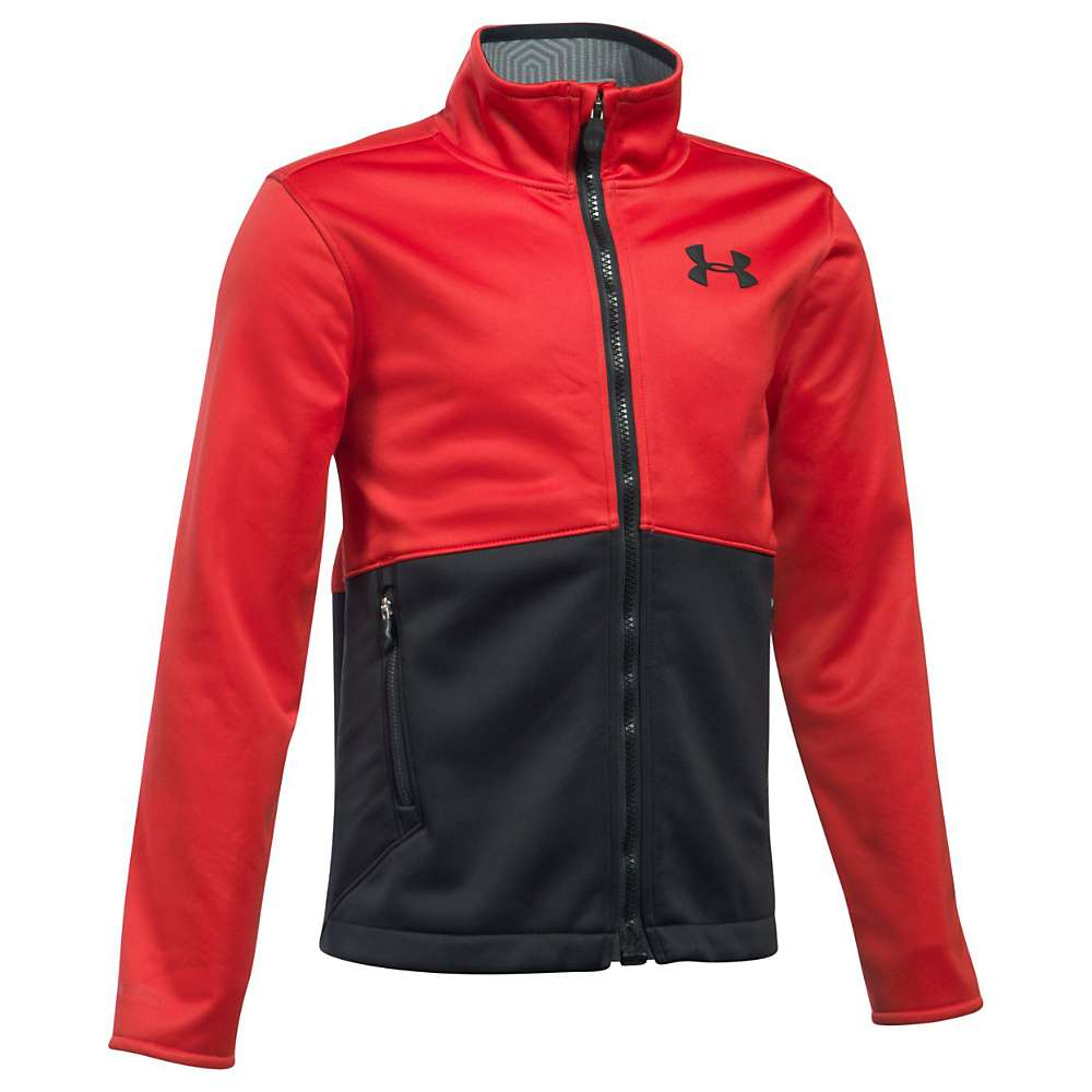 Under Armour Boys' UA ColdGear Infrared Softershell Jacket - XL - Red / Black / Black