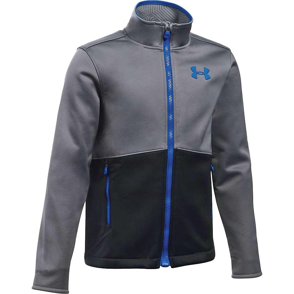 Under Armour Boys' UA ColdGear Infrared Softershell Jacket - XL - Graphite / Ultra Blue