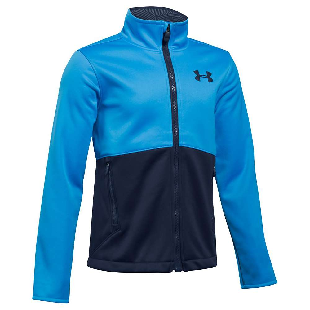 Under Armour Boys' UA ColdGear Infrared Softershell Jacket - Large - Mako Blue / Midnight Navy / Midnight Navy