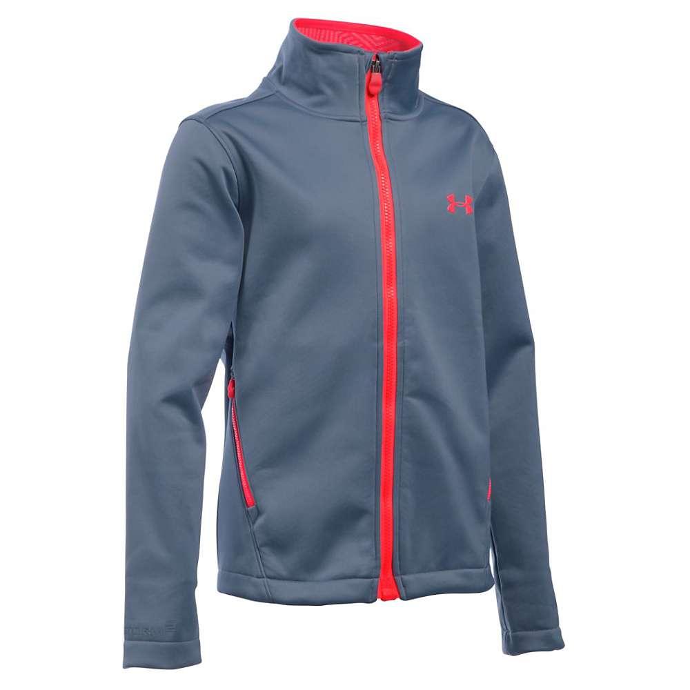 Under Armour Girls' UA ColdGear Infrared Softershell Jacket - XS - Aurora Purple / Pink Chroma