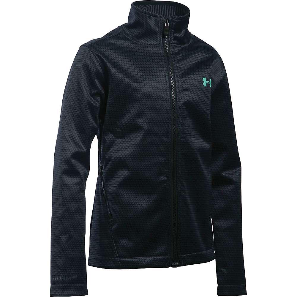 Under Armour Girls' UA ColdGear Infrared Softershell Jacket - Medium - Stealth Grey / Crystal