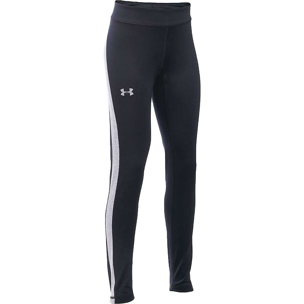 Under Armour Girl's ColdGear Legging - XS - Black / Reflective