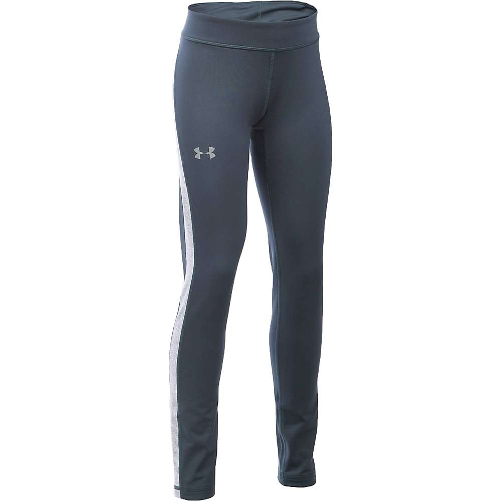 Under Armour Girl's ColdGear Legging - Small - Stealth Grey / Reflective