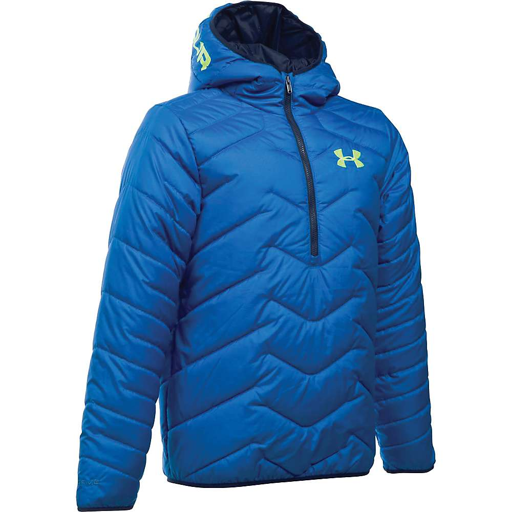 Under Armour Boy's ColdGear Reactor Anorak - XL - Ultra Blue / Fuel Green