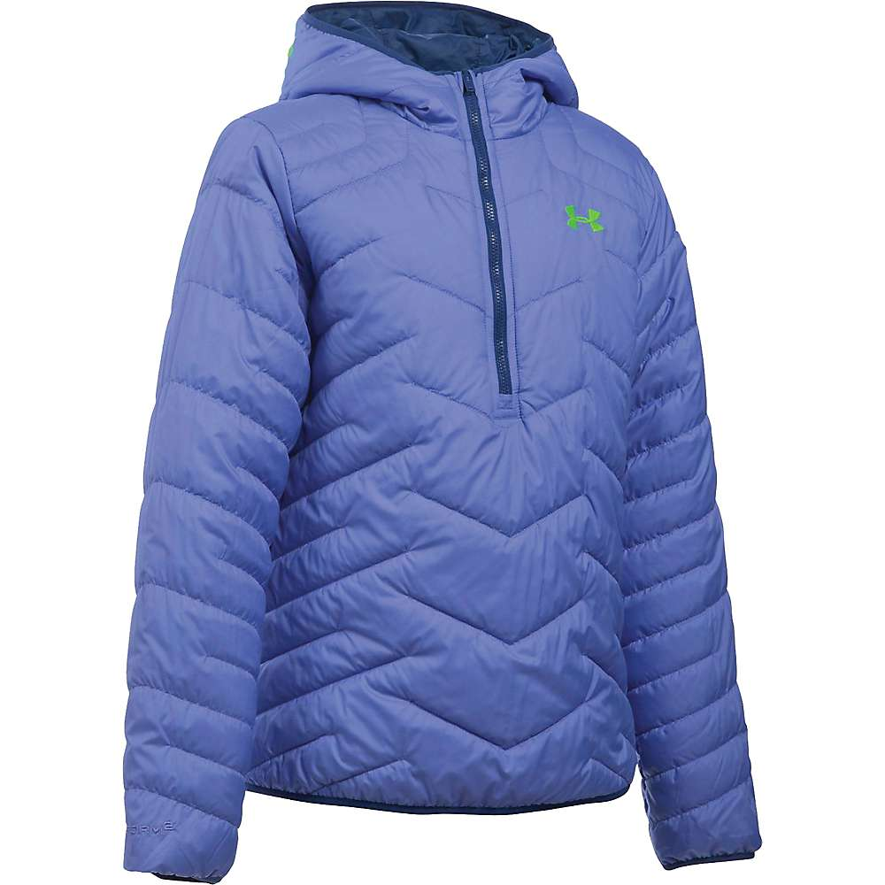 Under Armour Girl's ColdGear Reactor Anorak - Small - Violet Storm / Lime Light