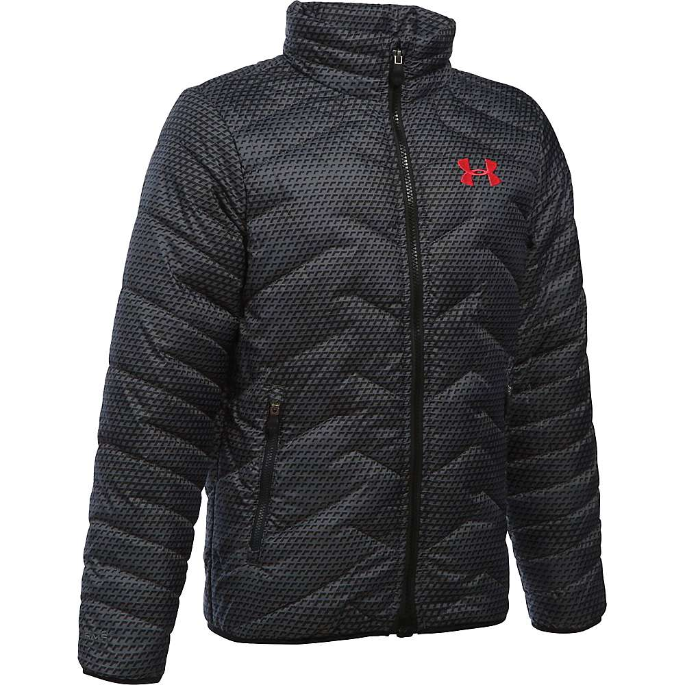 Under Armour Boys' UA ColdGear Reactor Jacket - XS - Graphite / Red