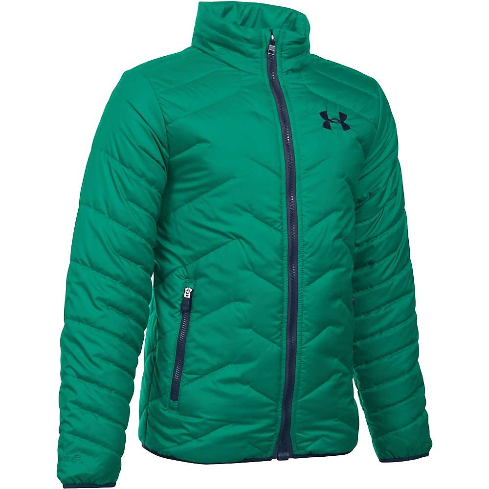 Under Armour Boys' UA ColdGear Reactor Jacket - Small - Geode Green / Midnight Navy