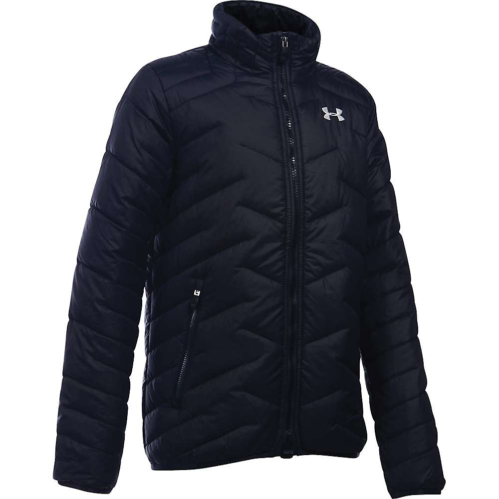 Under Armour Girls' UA ColdGear Reactor Jacket - XS - Black / Glacier Grey