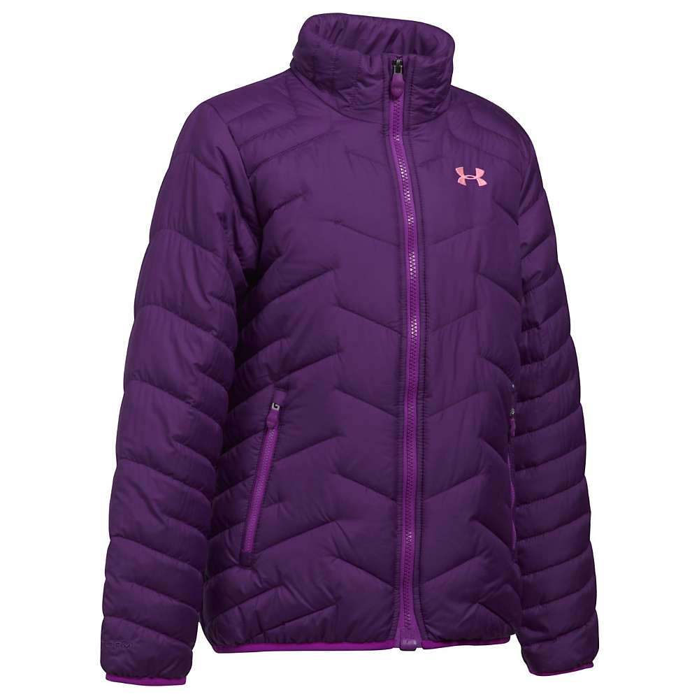 Under Armour Girls' UA ColdGear Reactor Jacket - Medium - Indulge / Purple Rave / Pop Pink