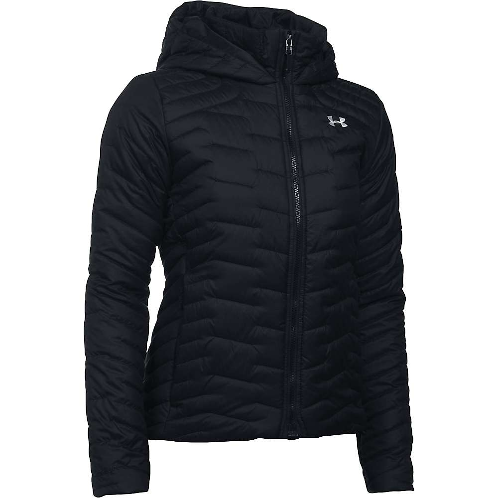 Under Armour Women's UA ColdGear Reactor Hooded Jacket - XS - Black / Black / Glacier Grey