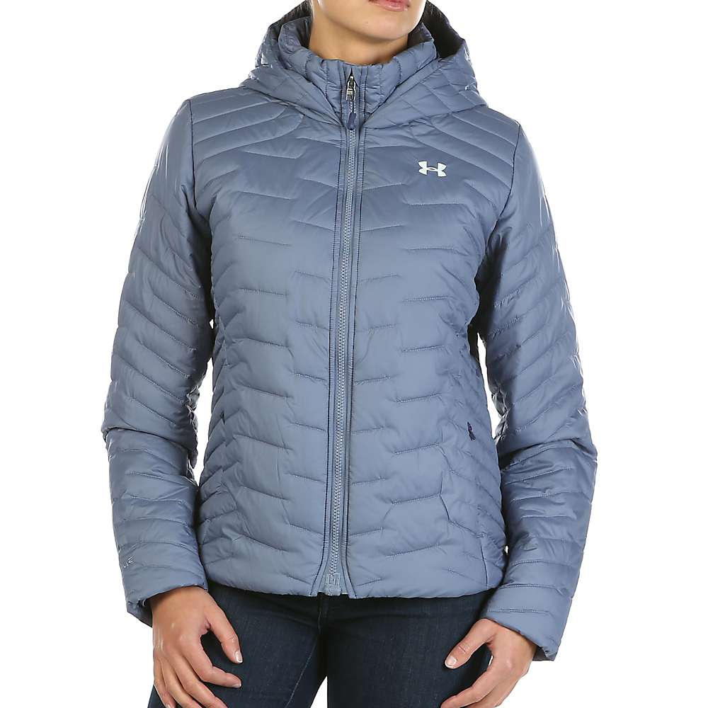 Under Armour Women's UA ColdGear Reactor Hooded Jacket - Medium - Aurora Purple / Aqua Falls