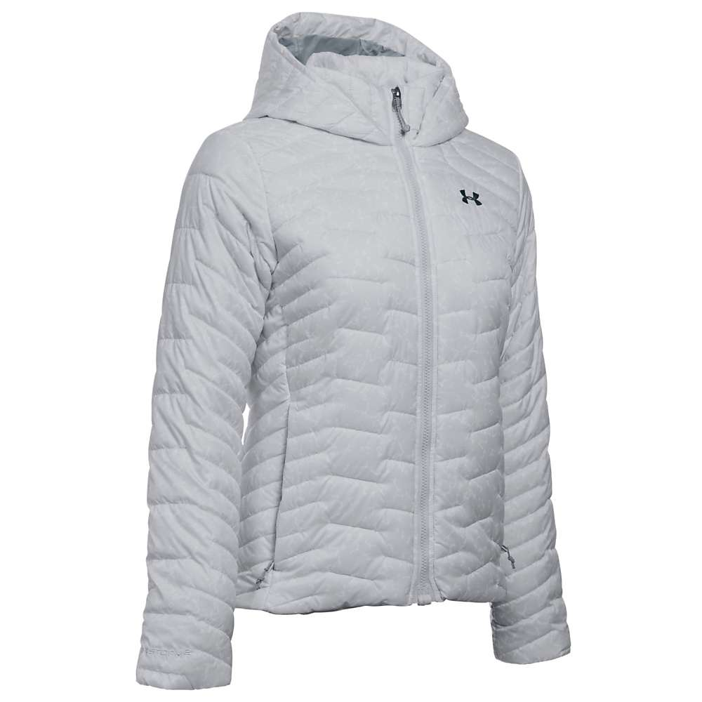 Under Armour Women's UA ColdGear Reactor Hooded Jacket - Medium - Glacier Grey / Steel / Stealth Grey