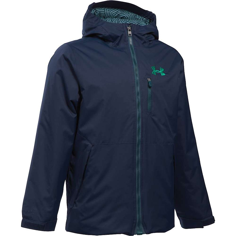 Under Armour Boy's ColdGear Reactor Yonders Jacket - XS - Midnight Navy / Geode Green