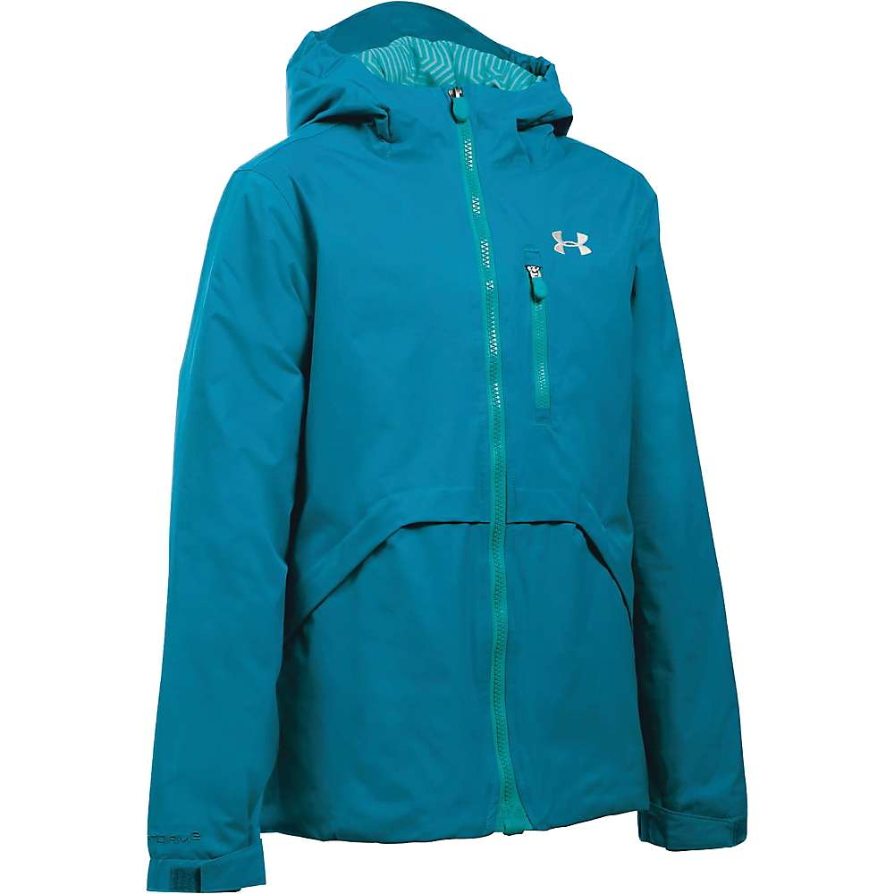 Under Armour Girl's ColdGear Reactor Yonders Jacket - XS - Teal Blast / Glacier Grey