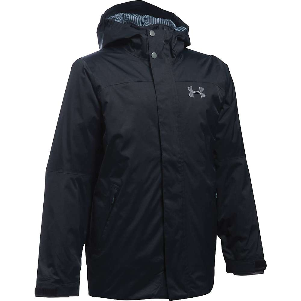 Under Armour Boy's ColdGear Reactor Wayside 3 In 1 Jacket - XS - Black / Graphite