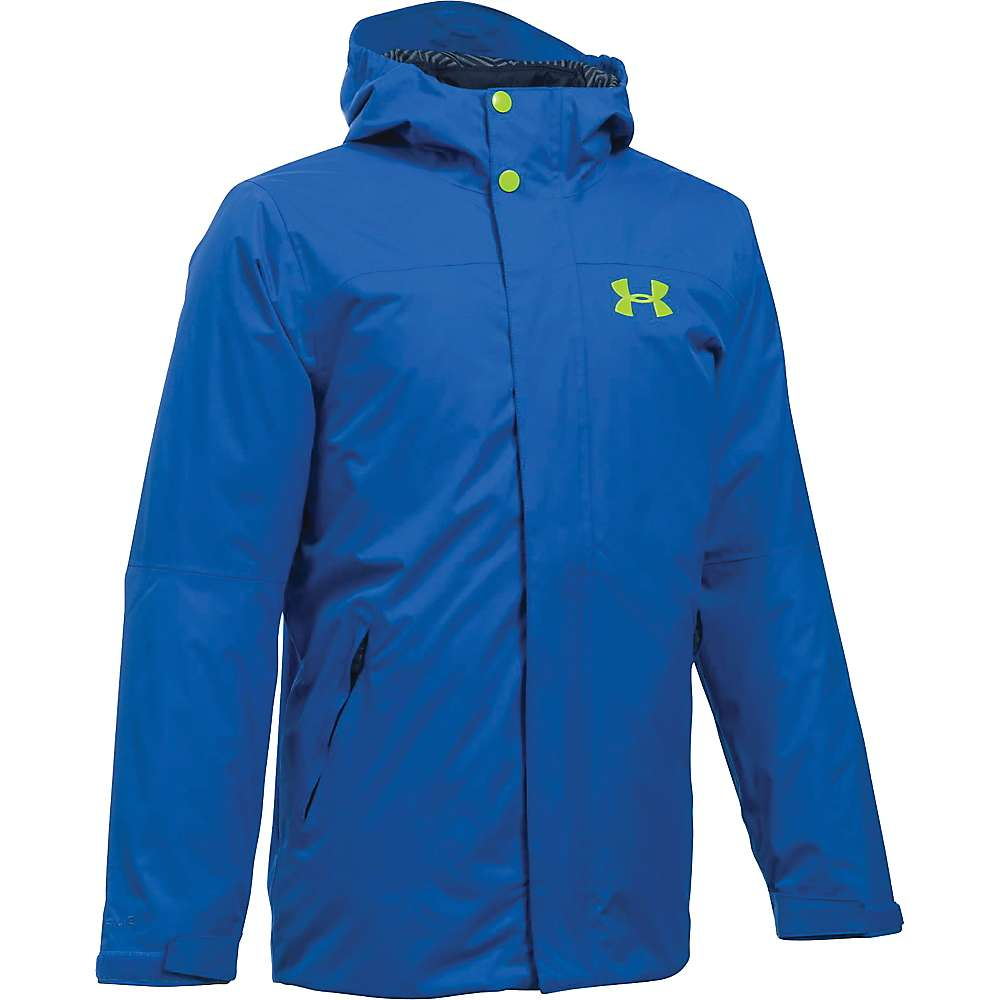 Under Armour Boy's ColdGear Reactor Wayside 3 In 1 Jacket - XL - Ultra Blue / Fuel Green