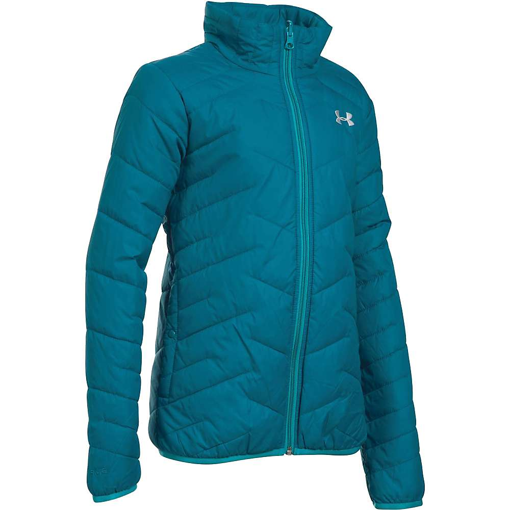 Under Armour Girl's ColdGear Reactor Wayside 3 In 1 Jacket - XS - Pacific / Glacier Grey