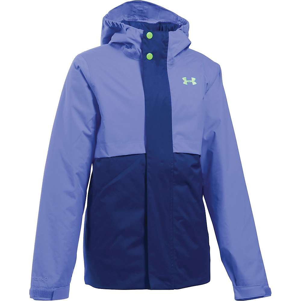 Under Armour Girl's ColdGear Reactor Wayside 3 In 1 Jacket - Medium - Violet Storm / Lime Light