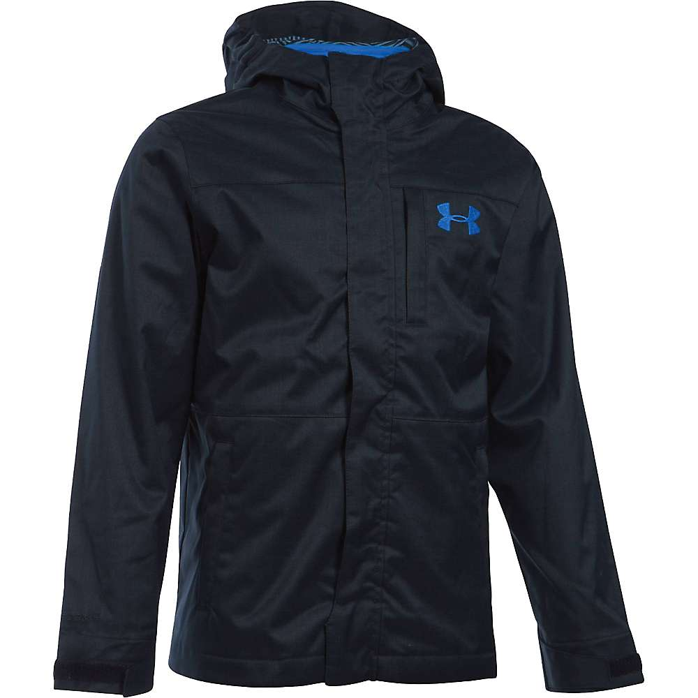 Under Armour Boys' UA ColdGear Infrared Wildwood 3 In 1 Jacket - XS - Black / Ultra Blue