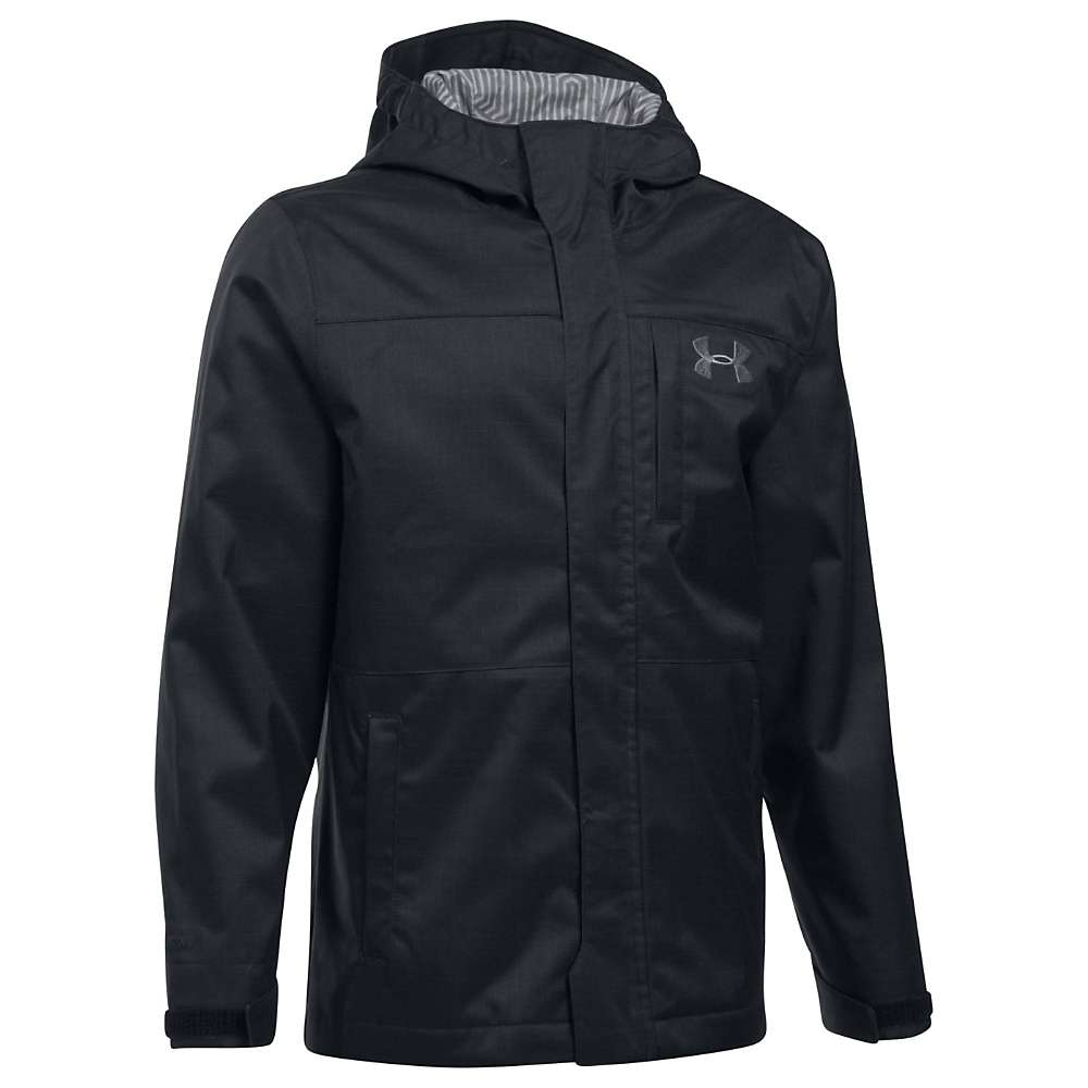 Under Armour Boys' UA ColdGear Infrared Wildwood 3 In 1 Jacket - Small - Black / Graphite / Graphite