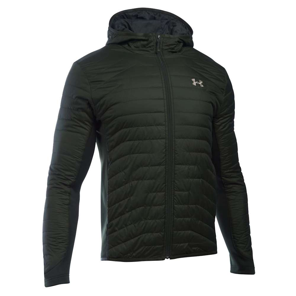 Under Armour Men's ColdGear Reactor Hybrid Jacket - Medium - Artillery Green / Greystone