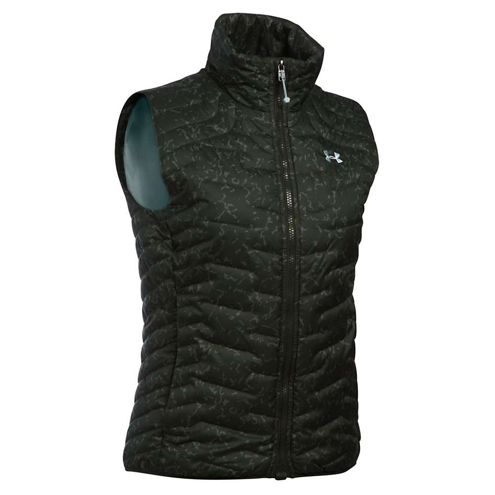 Under Armour Women's ColdGear Reactor Vest - Small - Artillery Green / Aqua Falls