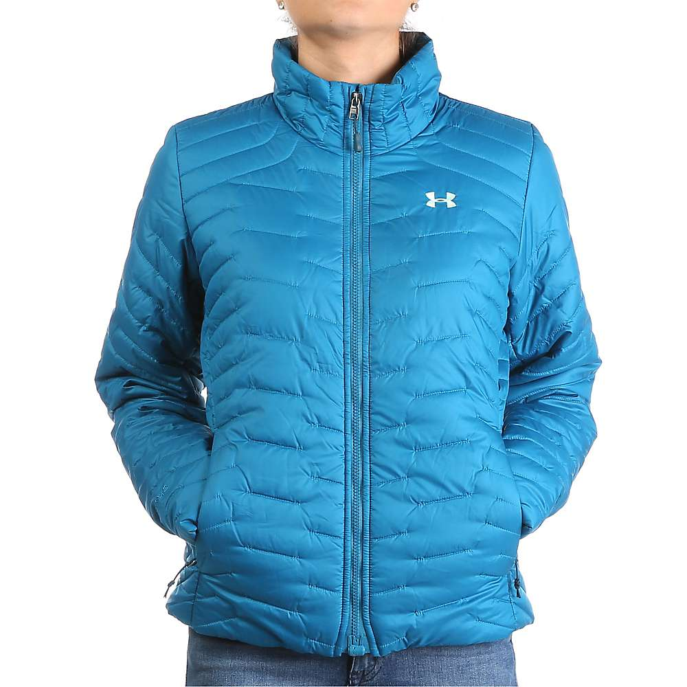 Under Armour Women's UA ColdGear Reactor Jacket - Medium - Peacock / Crystal