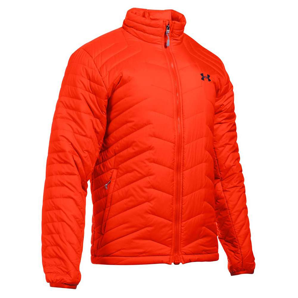 Under Armour Men's UA ColdGear Reactor Jacket - XL - Dark Orange / Stealth Grey