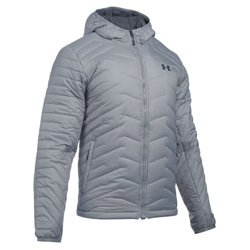 Under Armour Men's UA ColdGear Reactor Hooded Jacket - Medium - Overcast Grey / Stealth Grey