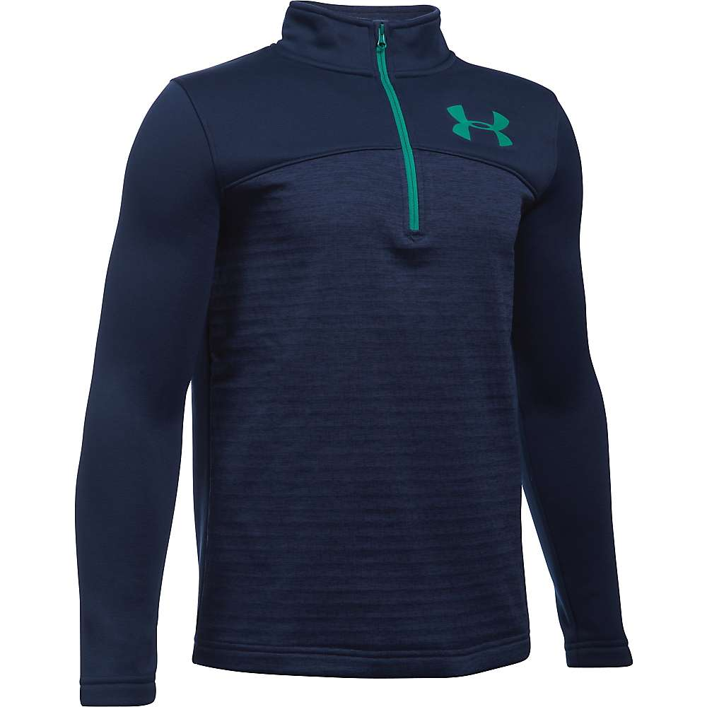 Under Armour Boys' UA Expanse 1/4 Zip Top - XL - Midnight Navy / Geode Green