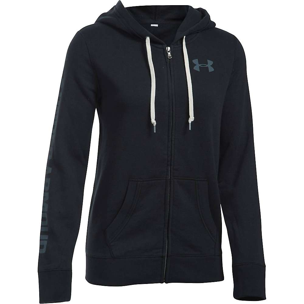 Under Armour Women's Favorite Fleece Full Zip Hoodie - Medium - Black / White