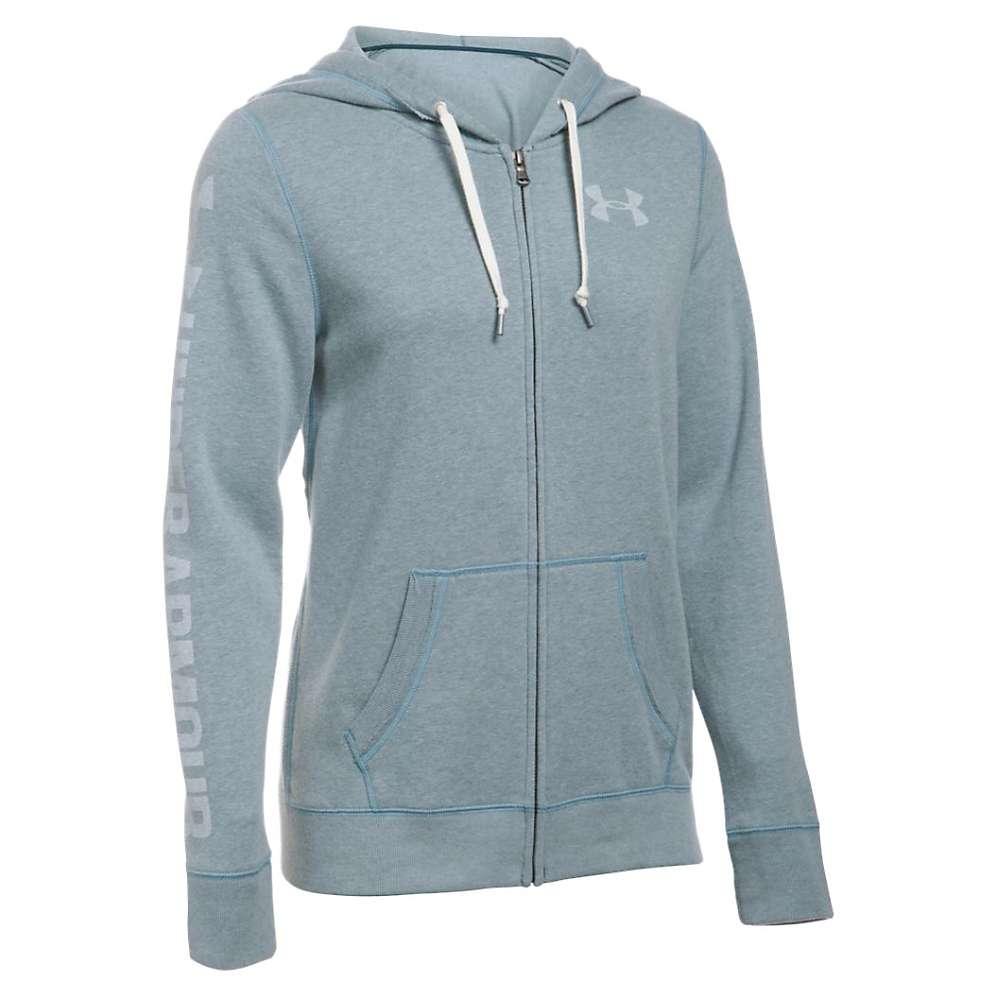 Under Armour Women's Favorite Fleece Full Zip Hoodie - Large - Nova Teal / White