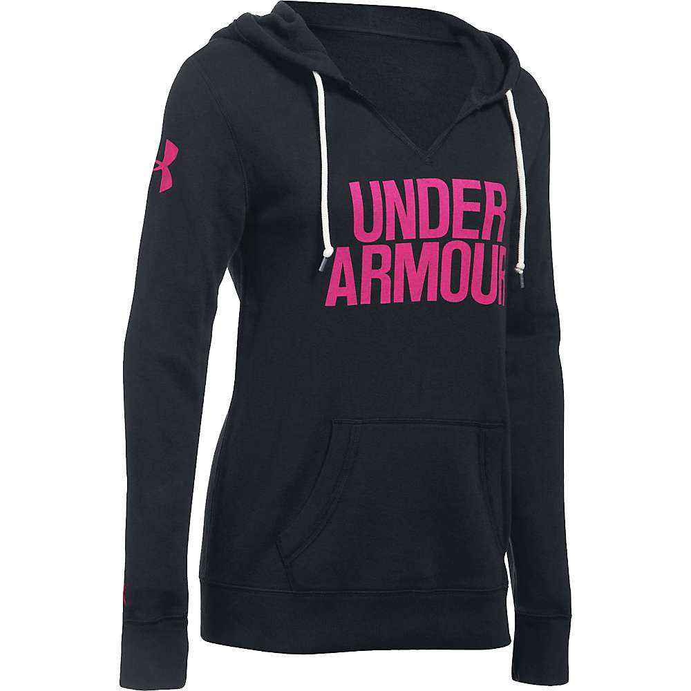 Under Armour Women's Favorite Fleece Hoodie - Medium - Black / Tropic Pink