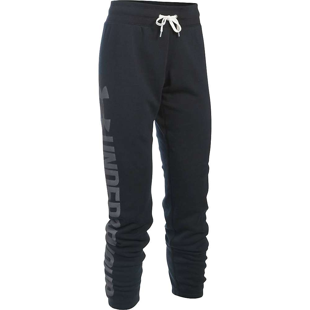 Under Armour Women's Favorite Fleece Pant - Small - Black / White