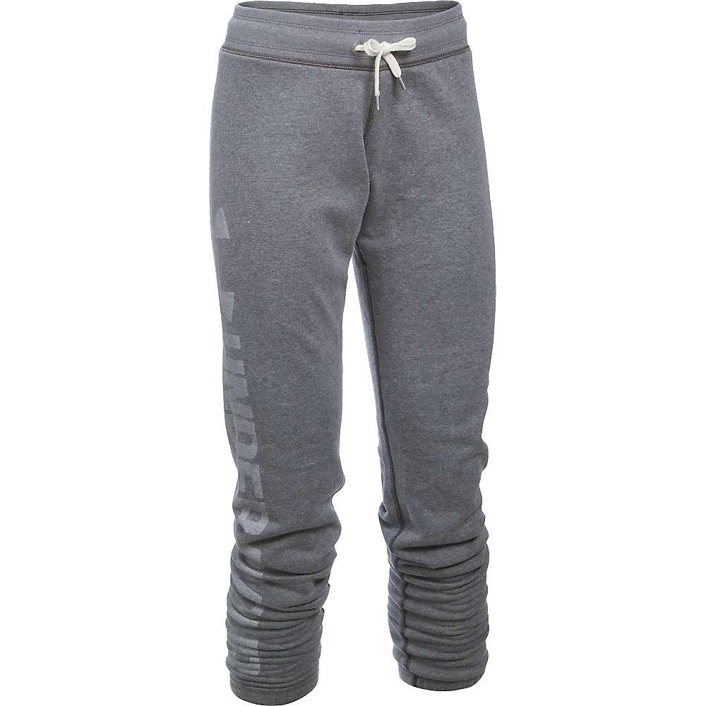 Under Armour Women's Favorite Fleece Pant - XS - Carbon Heather / White